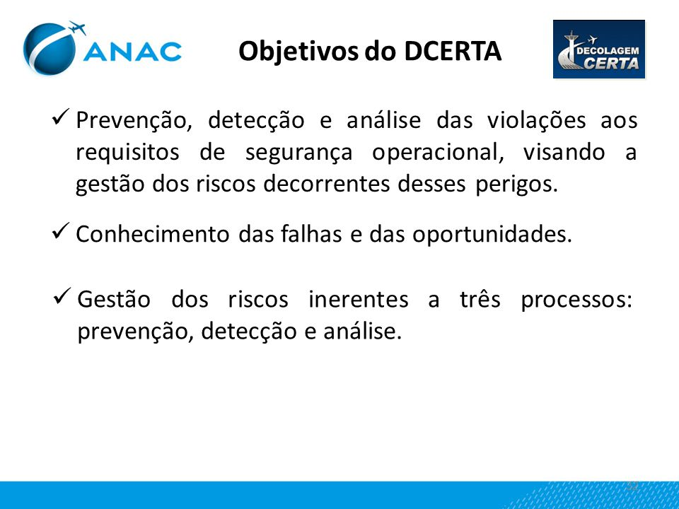 Objetivos do DCERTA
