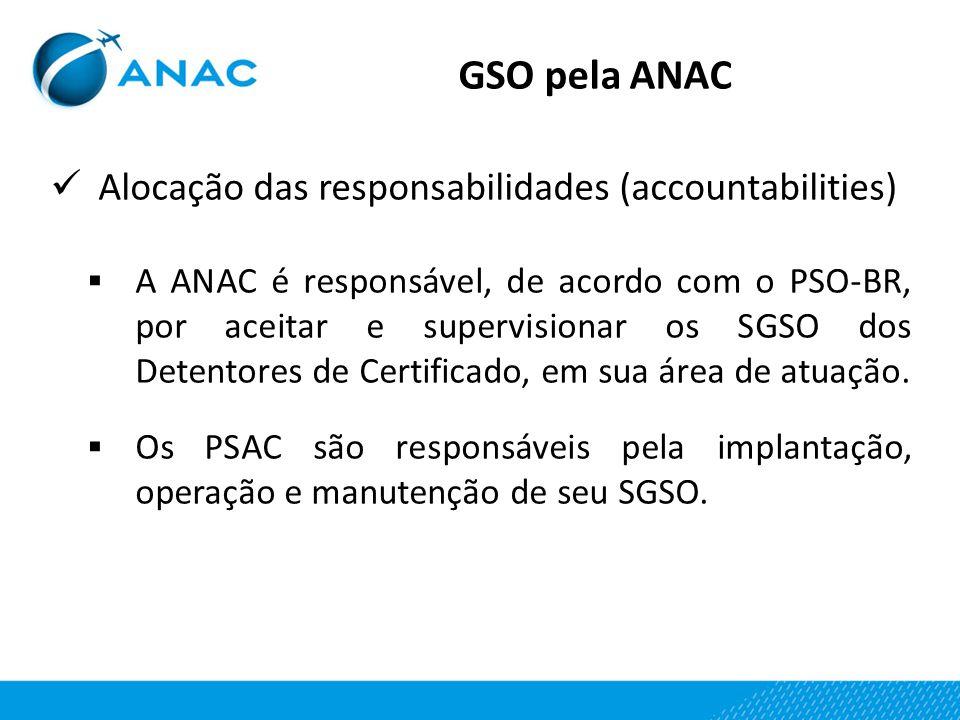 GSO pela ANAC Alocação das responsabilidades (accountabilities)