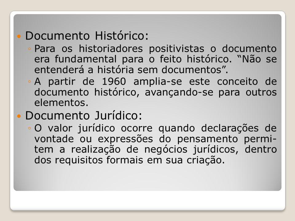 Documento Histórico: Documento Jurídico: