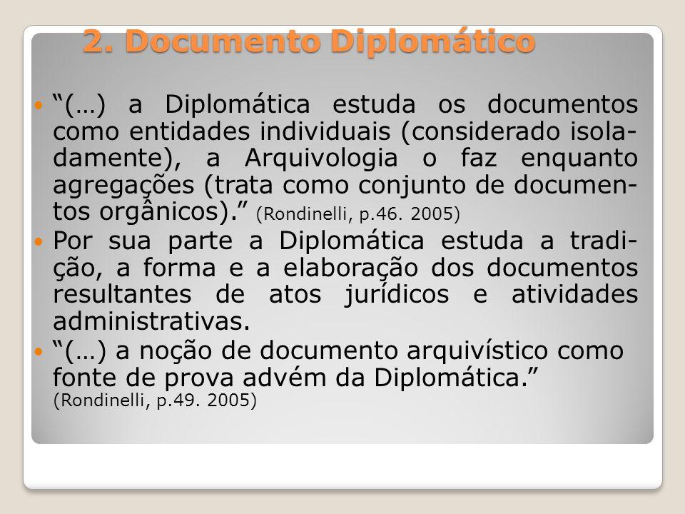 2. Documento Diplomático