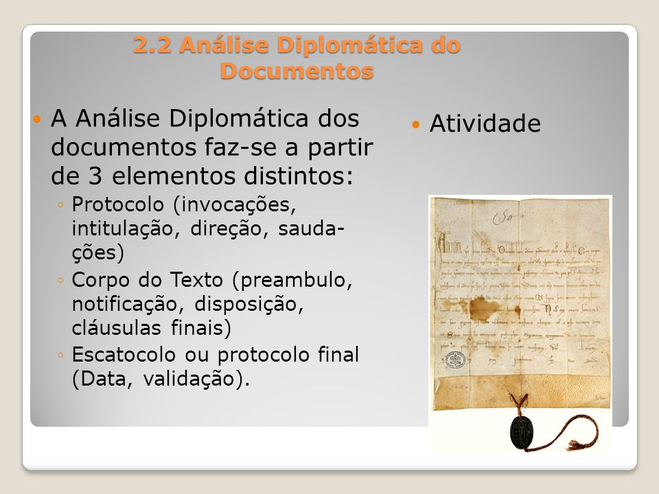 2.2 Análise Diplomática do Documentos