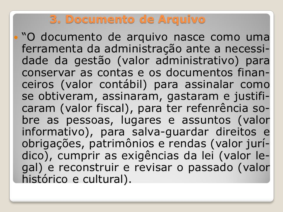 3. Documento de Arquivo