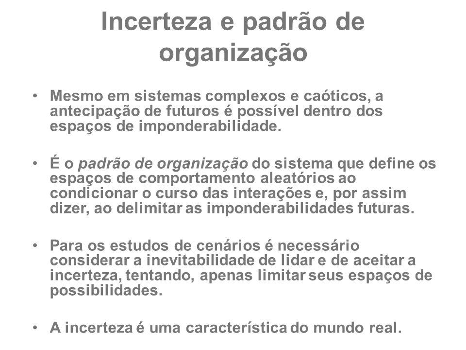 Incerteza e padrão de organização