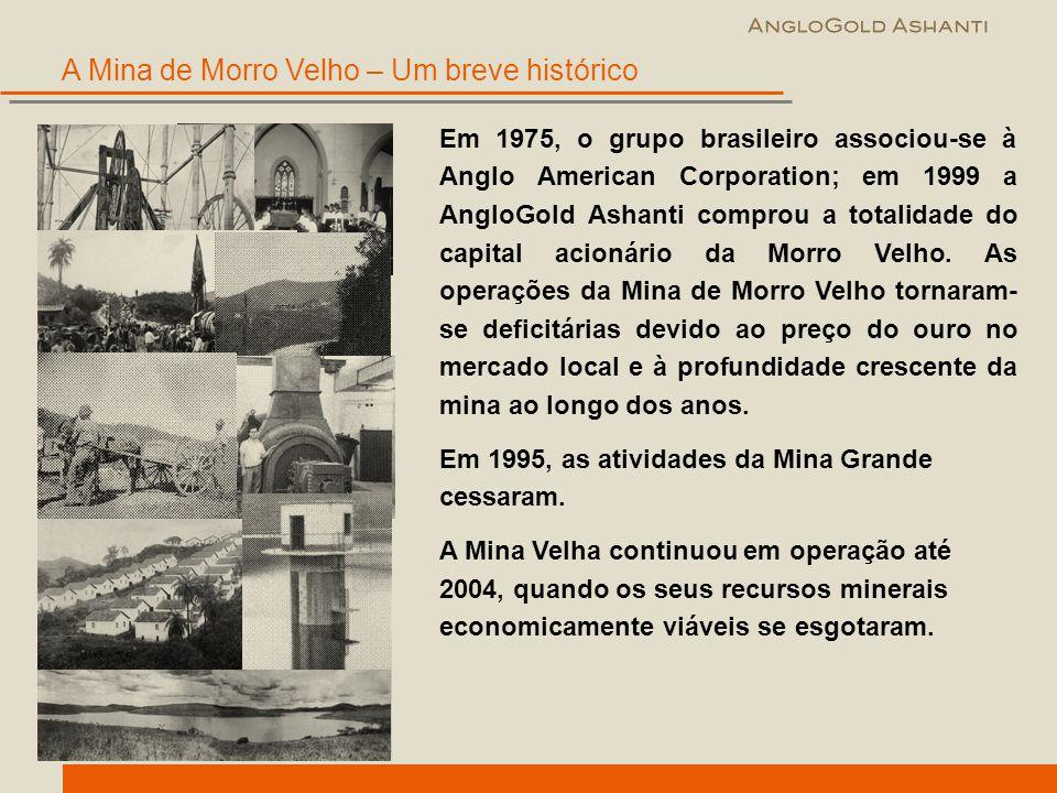 A Mina de Morro Velho – Um breve histórico