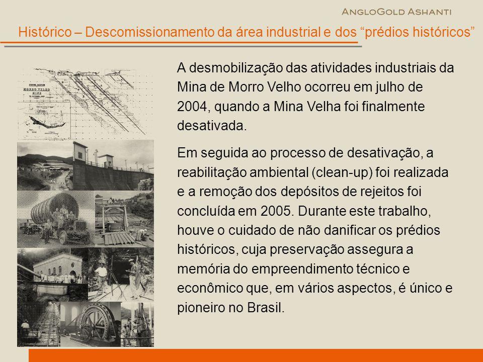 Histórico – Descomissionamento da área industrial e dos prédios históricos