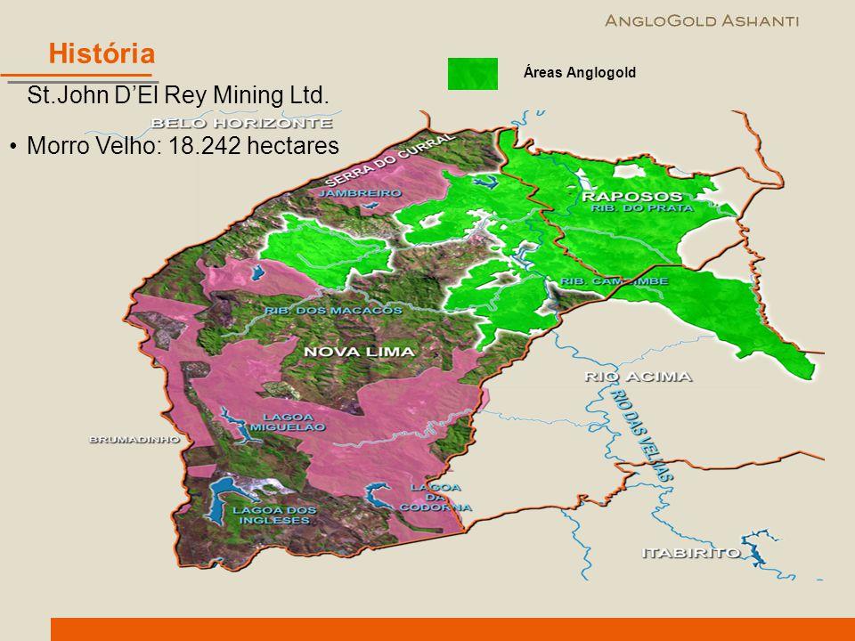 História St.John D'El Rey Mining Ltd. Morro Velho: 18.242 hectares