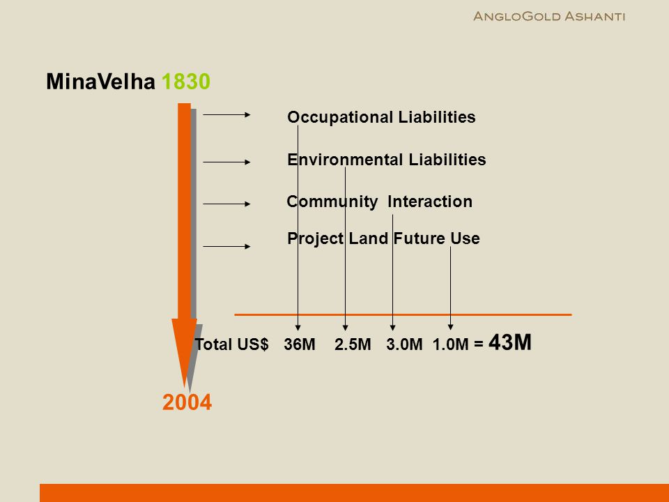 MinaVelha 1830 2004 Occupational Liabilities Environmental Liabilities