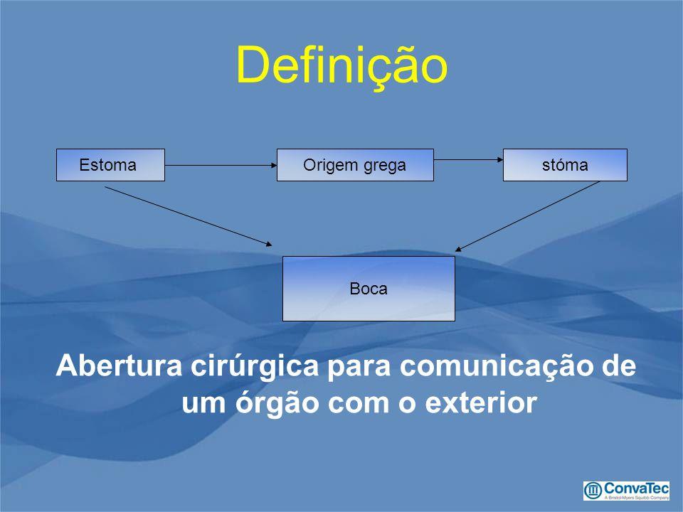 Abertura cirúrgica para comunicação de um órgão com o exterior