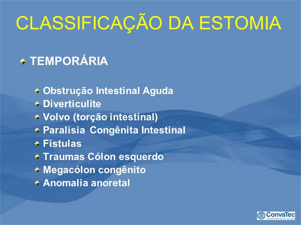 CLASSIFICAÇÃO DA ESTOMIA