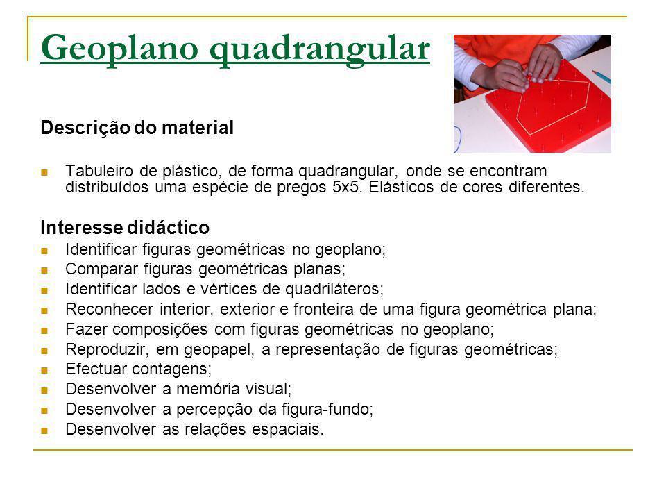 Geoplano quadrangular
