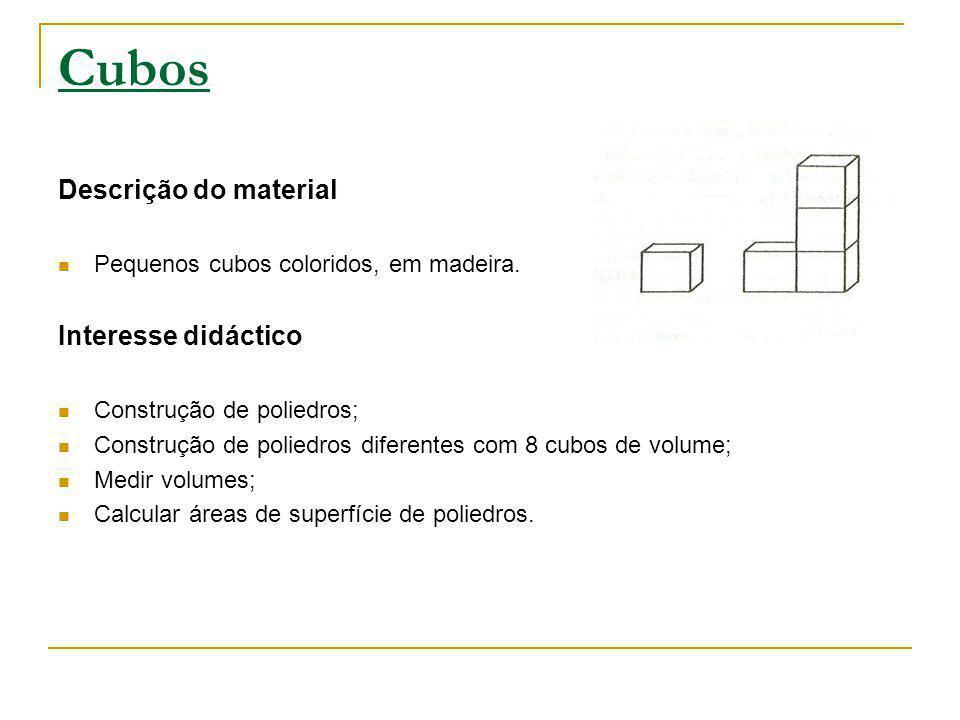 Cubos Descrição do material Interesse didáctico