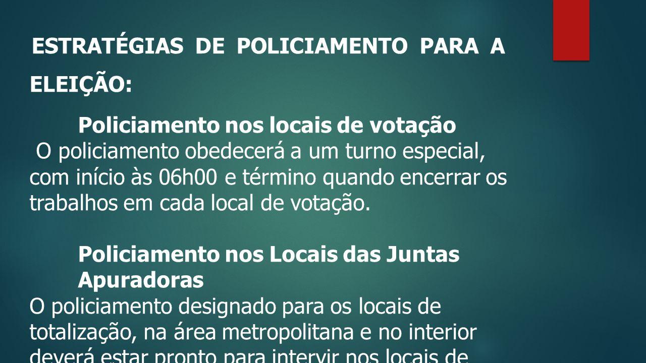 Policiamento nos locais de votação