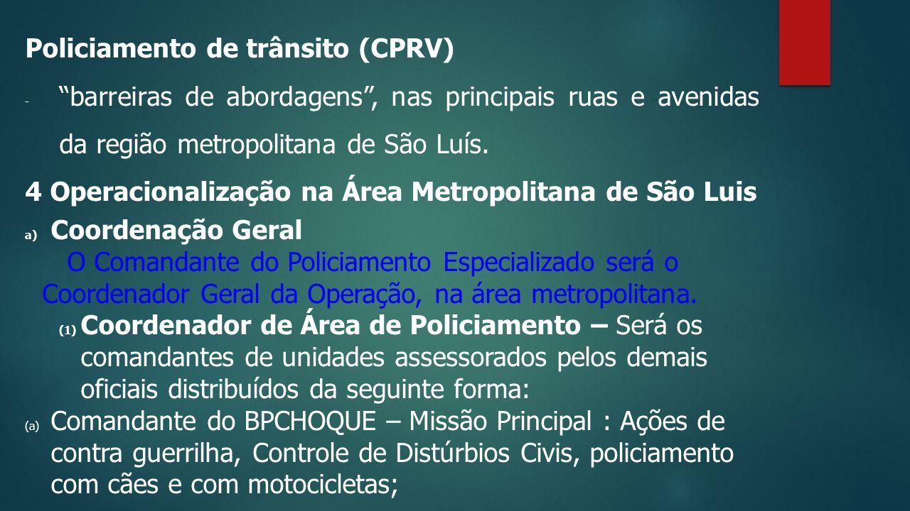 Policiamento de trânsito (CPRV)