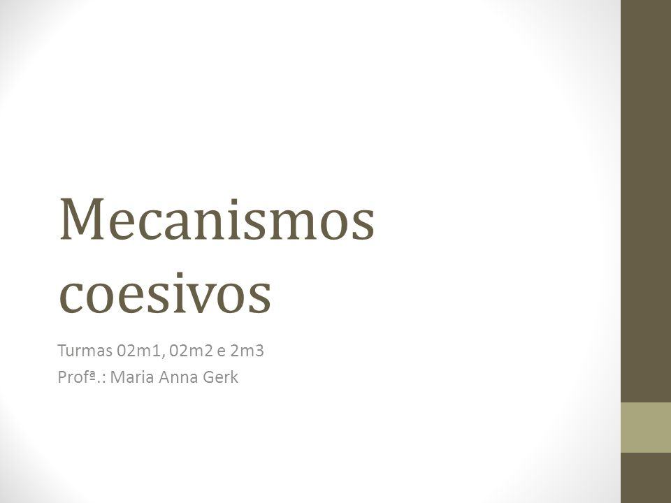 Turmas 02m1, 02m2 e 2m3 Profª.: Maria Anna Gerk