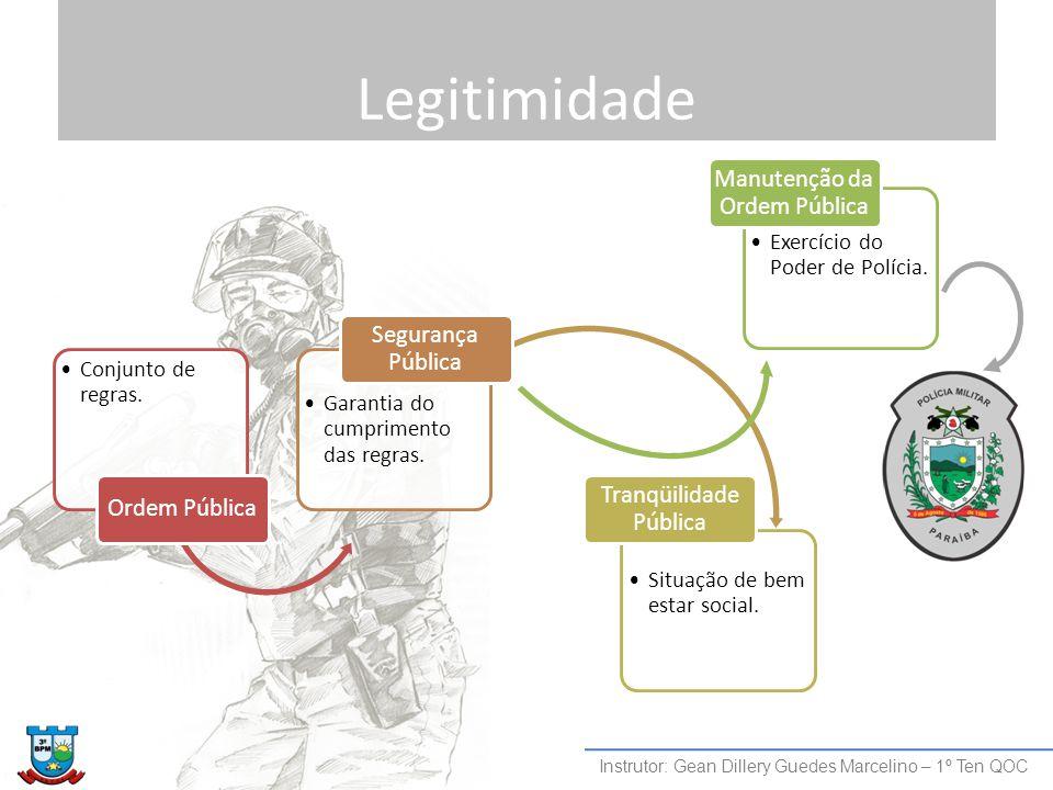 Legitimidade Instrutor: Gean Dillery Guedes Marcelino – 1º Ten QOC