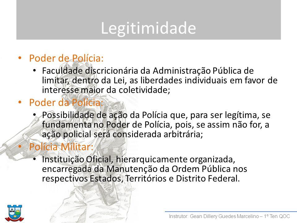 Legitimidade Poder de Polícia: Poder da Polícia: Polícia Militar: