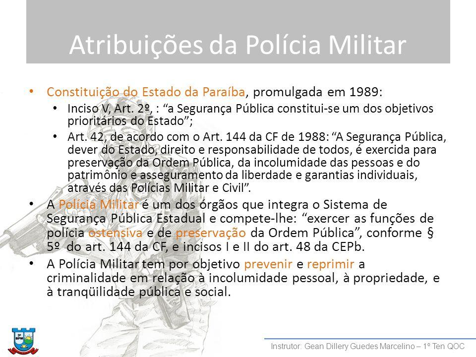 Atribuições da Polícia Militar