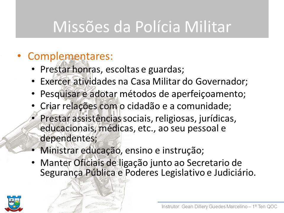 Missões da Polícia Militar