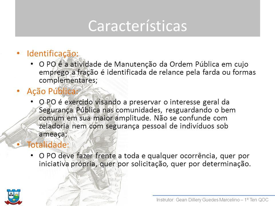 Características Identificação: Ação Pública: Totalidade: