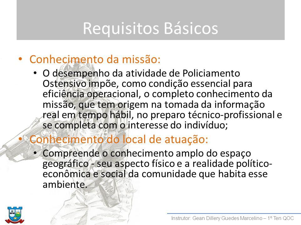 Requisitos Básicos Conhecimento da missão: