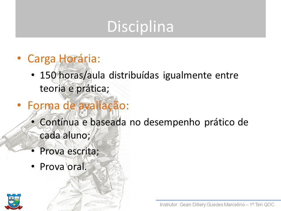 Disciplina Carga Horária: Forma de avaliação:
