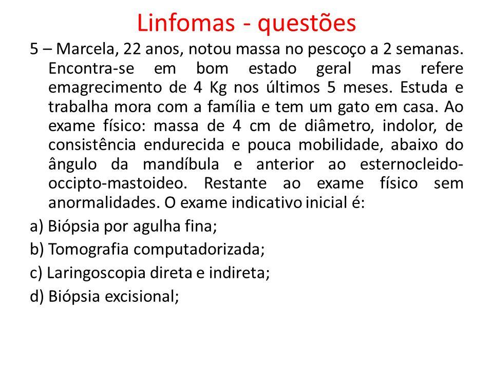 Linfomas - questões
