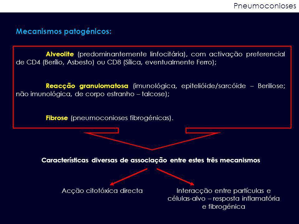 Características diversas de associação entre estes três mecanismos