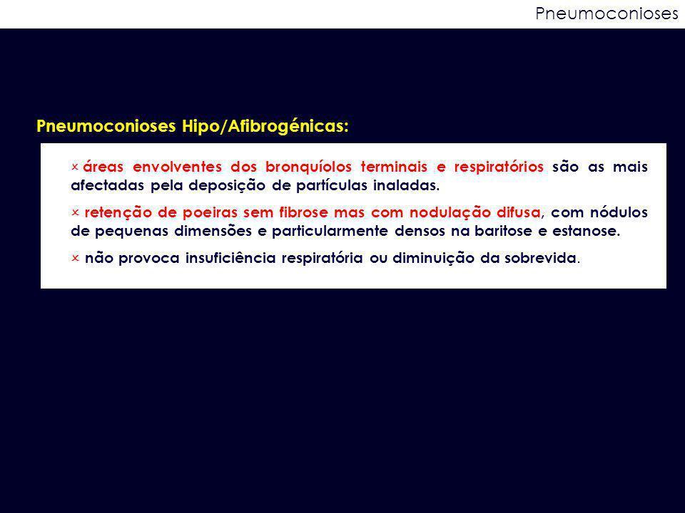 Pneumoconioses Hipo/Afibrogénicas: