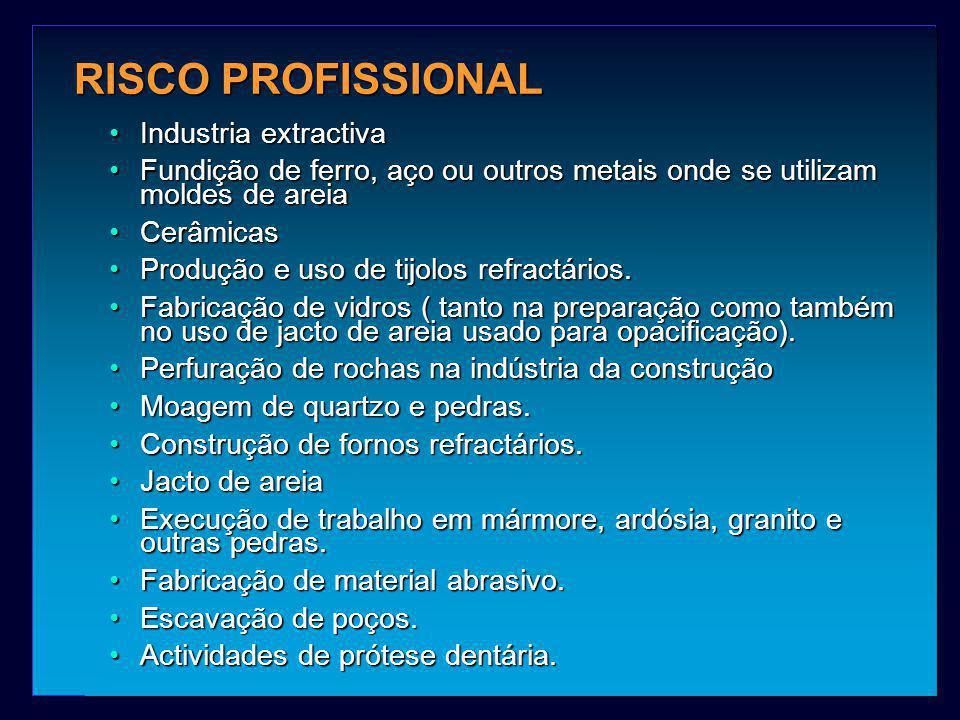 RISCO PROFISSIONAL Industria extractiva