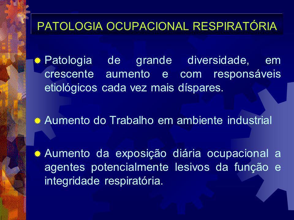 PATOLOGIA OCUPACIONAL RESPIRATÓRIA
