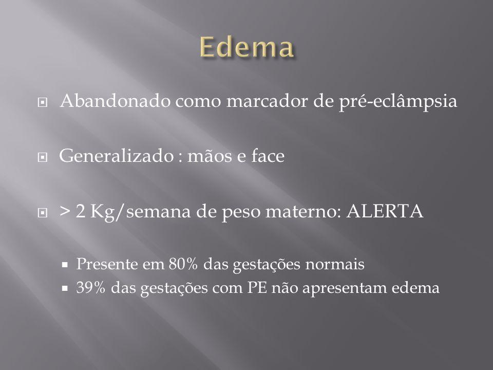 Edema Abandonado como marcador de pré-eclâmpsia