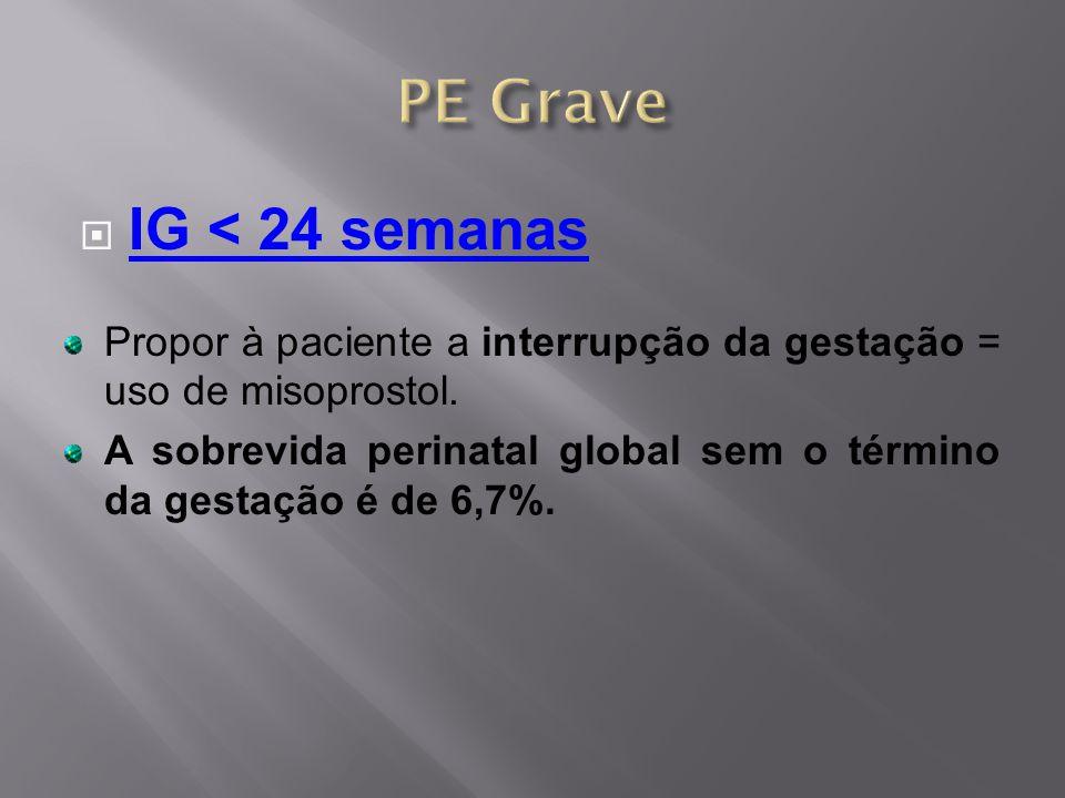 PE Grave IG < 24 semanas