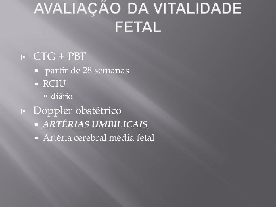 AVALIAÇÃO DA VITALIDADE FETAL