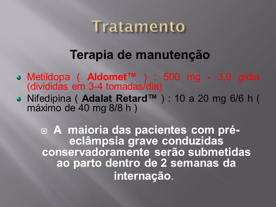 Tratamento Terapia de manutenção