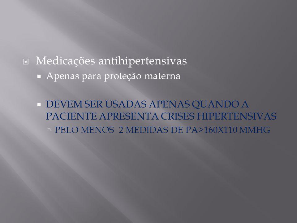 Medicações antihipertensivas