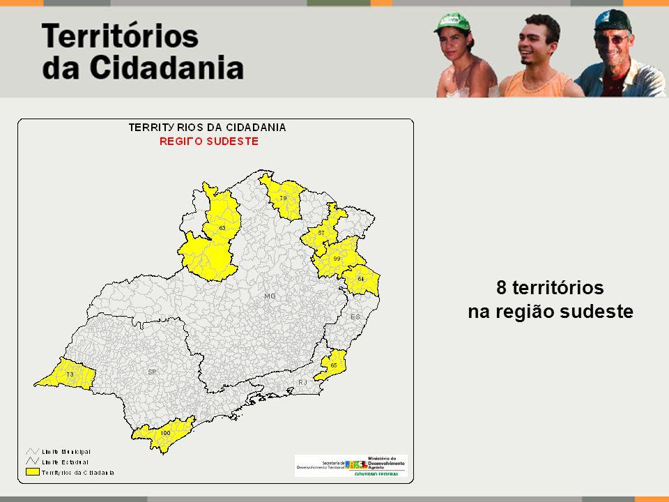 8 territórios na região sudeste