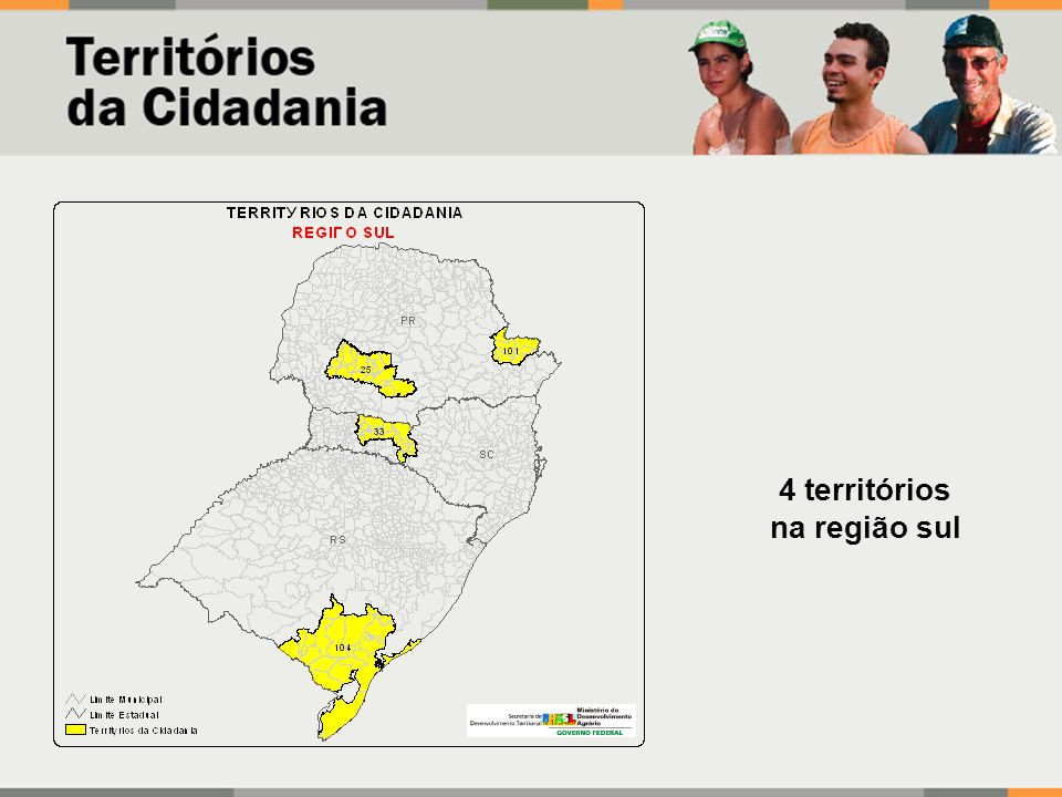 4 territórios na região sul