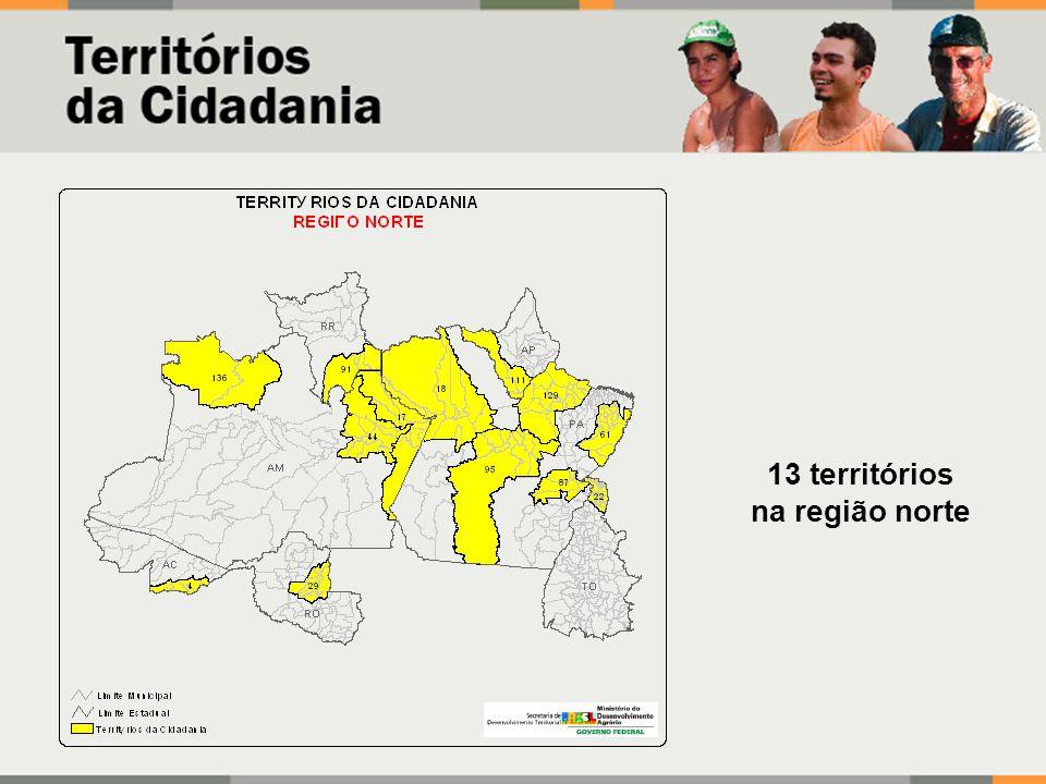 13 territórios na região norte