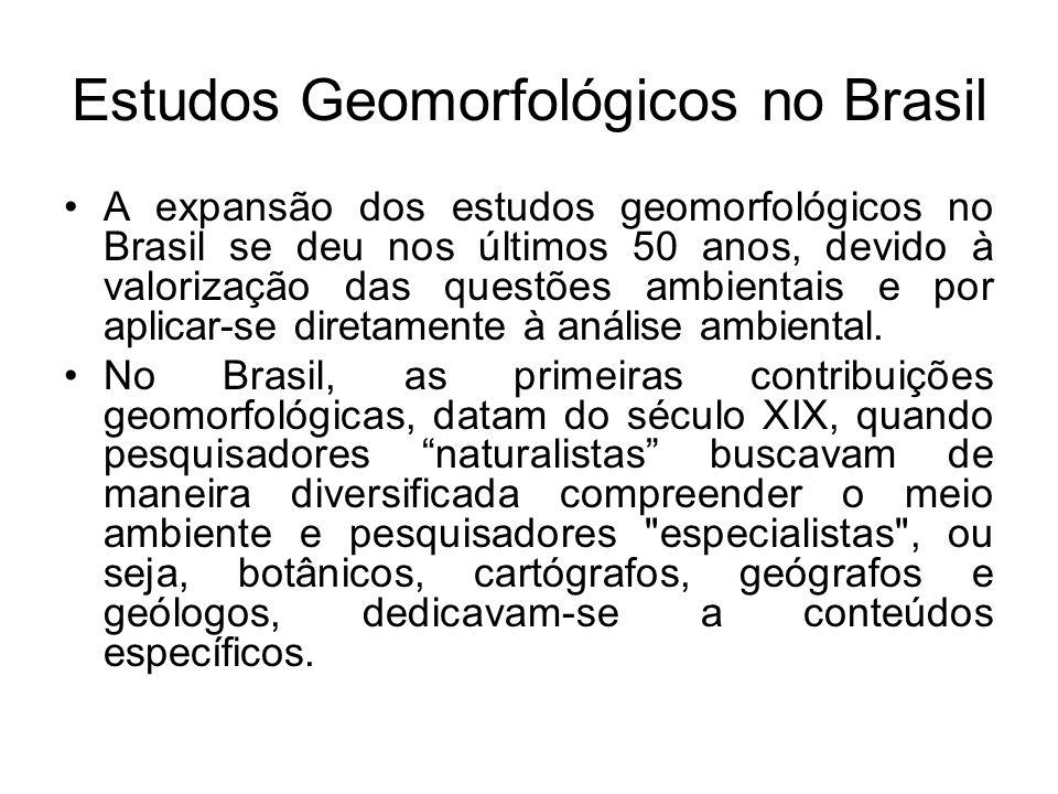 Estudos Geomorfológicos no Brasil