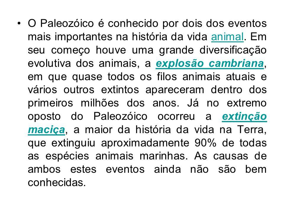 O Paleozóico é conhecido por dois dos eventos mais importantes na história da vida animal.