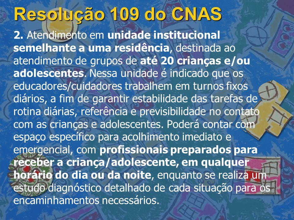 Resolução 109 do CNAS