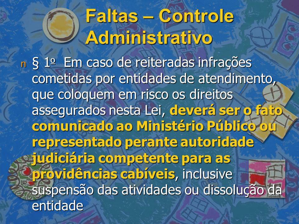 Faltas – Controle Administrativo