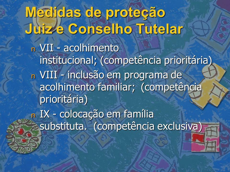 Medidas de proteção Juiz e Conselho Tutelar