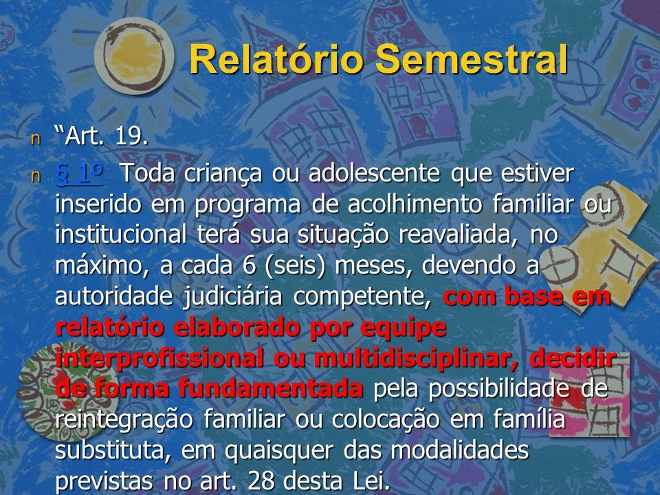 Relatório Semestral Art. 19.