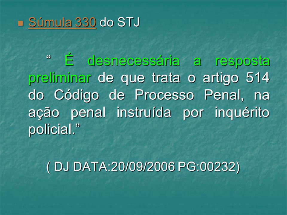 Súmula 330 do STJ