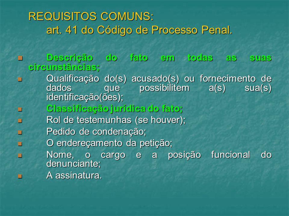 art. 41 do Código de Processo Penal.