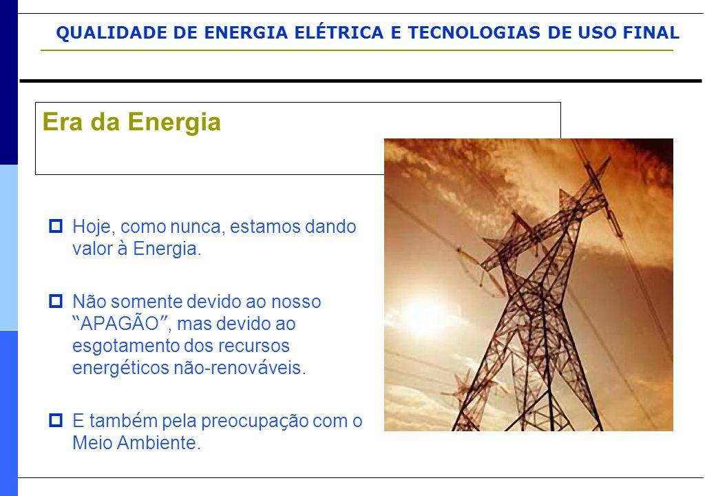 Era da Energia Hoje, como nunca, estamos dando valor à Energia.