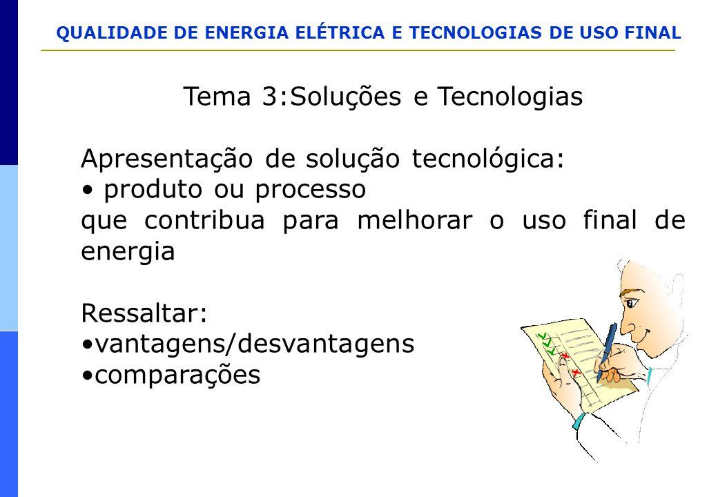 Tema 3:Soluções e Tecnologias
