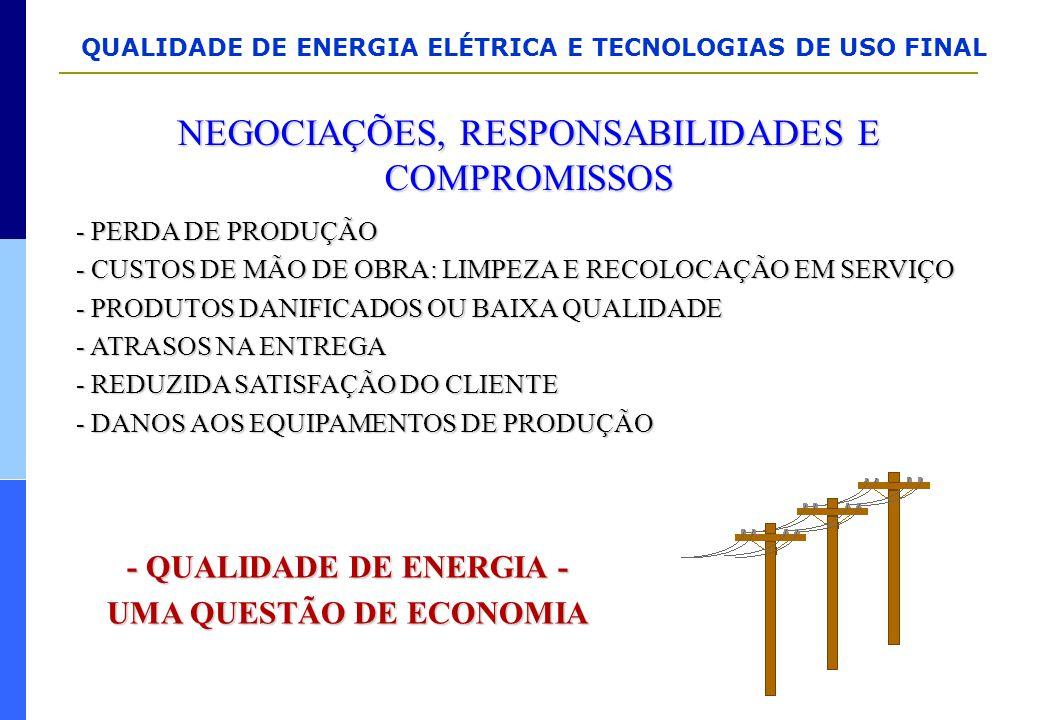 - QUALIDADE DE ENERGIA - UMA QUESTÃO DE ECONOMIA