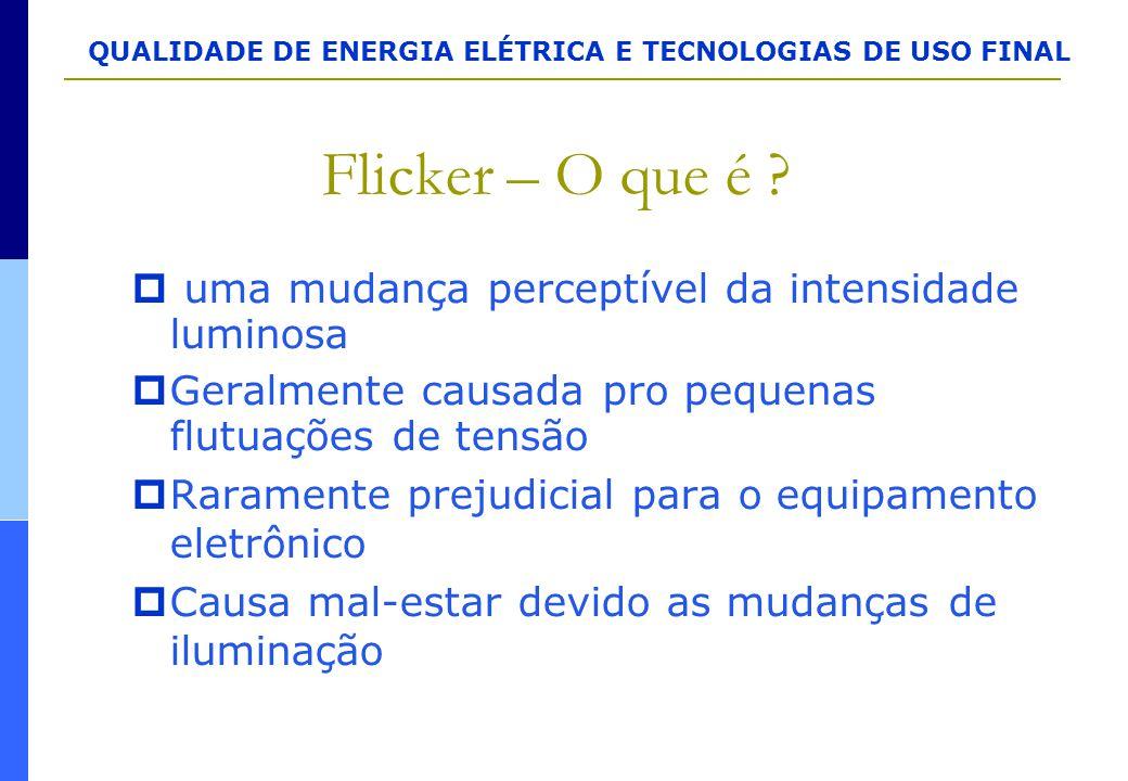 Flicker – O que é uma mudança perceptível da intensidade luminosa
